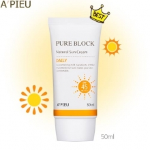A'PIEU Pure Block Natural Daily Sun Cream 50ml (SPF45/PA+++), A'Pieu