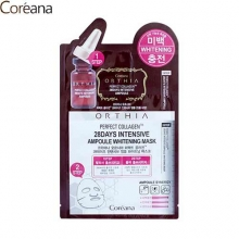 COREANA Orthia Perfect Collagen 28days Intensive Ampoule Whitening Mask 25ml, COREANA