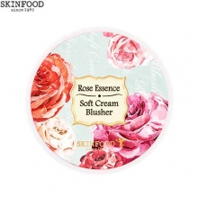 SKINFOOD Rose Essence Soft Cream Blusher 3.5g,Beauty Box Korea
