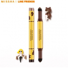 MISSHA Dual Blending Cushion Shadow 1g*2 #London Trip [Line Friends Limited Edition], MISSHA