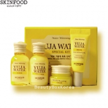 [mini] SKINFOOD Yuja Water Special Kit (4items:Toner, Emulsion,Serum,Cream), Skinfood