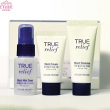 [mini] ETUDE HOUSE True Relief Special Trial Set 3items (Toner+Emulsion+Cream), ETUDE HOUSE