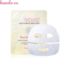 BANILA CO. Radiant Lace Hydrogel Mask Sheet Nourishment 30g, BANILA CO.