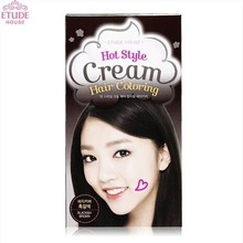 ETUDE HOUSE Hot  Style Cream Hair Coloring Gray Hair Cover (Dark Brown), ETUDE HOUSE