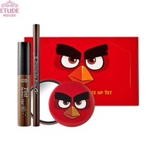 ETUDE HOUSE Angry Birds Quick Makeup Set (Drawing Eyebrow + Brow Gel Tint + Mirror), ETUDE HOUSE