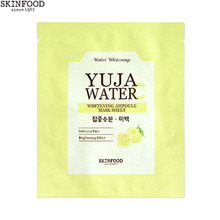 SKINFOOD Yuja Water Whitening Ampoule Mask Sheet 20ml *2sheets, Skinfood