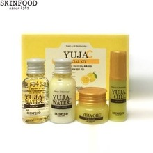 [mini] SKINFOOD Yuja C Special Kit 4items (Toner, Emulsion,Serum,Cream), Skinfood