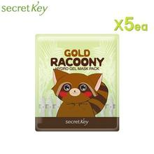 SECRET KEY Gold Racoony Hydro Gel Mask 30g *5ea, SECRET KEY