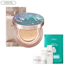 VERITE Aurora Cover Cushion Dorothy Edition 15g (+ Refill 15g) + VERITE Best Sample Kit + Real Power Shine Up 25ml*1, VERITE