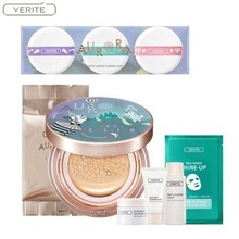 VERITE Aurora Cover Cushion Dorothy Edition 15g (+ Refill 15g) + VERITE Sample Kit 5items + Real Power Shine Up 25ml*1 + AURORA Cushion Puff*3 [Limited], VERITE