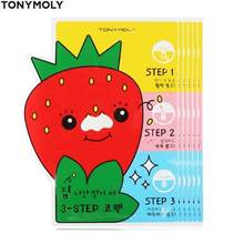 TONYMOLY Strawberry 3 Step Nose Pack 6g*5ea, TONYMOLY