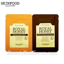 [mini] Skinfood Royal Honey Essential Queen's Cream & [mini] Skinfood Royal Honey Essential Queen's Night cream 1ml+1ml *10ea, Skinfood