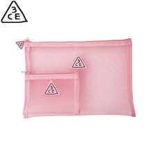 3CE PINK RUMOUR MESH POUCH 2ea,3CE,Beauty Box Korea