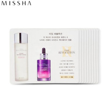 [mini] MISSHA Time Revolution The First Treatment Essence [Intensive Moist] & Night Repair Science Activator Ampoule *10ea, MISSHA