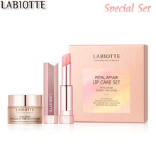 LABIOTTE Petal Affair Lip Care Set 2 items(Lip Sleeping Mask 15ml + Lip Glow Stick 4g), LABIOTTE