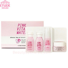 [mini] ETUDE HOUSE Pink Vital Water Special Trial Kit 4pcs [WS],Beauty Box Korea