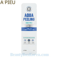 A'PIEU Aqua Peeling Cotton Swab Mild Type 3ml,Beauty Box Korea