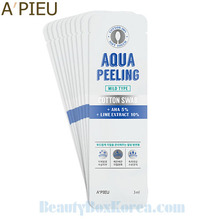 A'PIEU Aqua Peeling Cotton Swab Mild Type 3ml*10ea,Beauty Box Korea