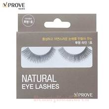 VPROVE Eyelashes Clear Line #1 1ea