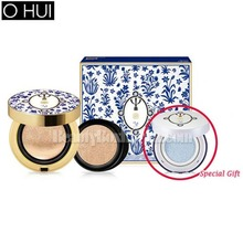 OHUI Ultimate Cover Cushion Matt Finish SPF 50+ PA+++ Special Set 15g+15g [TEO YANG Flower Edition],OHUI,Beauty Box Korea