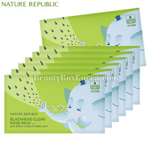 NATURE REPUBLIC Blackhead Clear Nose Pack 7ea, NATURE REPUBLIC