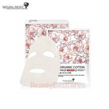 NATURAL PACIFIC 100% Organic Cotton Sheet Mask 25g*6ea