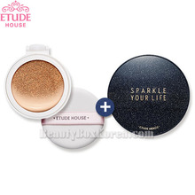ETUDE HOUSE Any Cushion All Day Perfect Refill 14g with Sparkle Your Cushion Case 1ea,ETUDE HOUSE,Beauty Box Korea