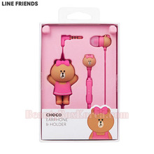 LINE FRIENDS Character Earphone & Holder Set