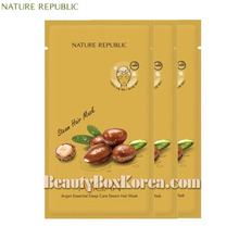 NATURE REPUBLIC Argan Essential Deep Care Steam Hair Mask 30g*3ea,Beauty Box Korea
