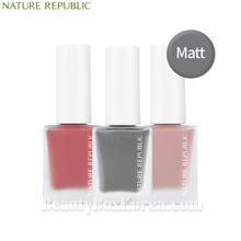 NATURE REPUBLIC Color&Nature Nail Color 8ml [Matte],Beauty Box Korea