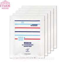 [mini] ETUDE HOUSE Active Proof All Over Refreshing Shower Tissue 5ea