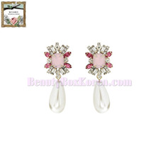 STRAWBERRY SHERBET Pink in summer girlish pink pearl drop earrings 1pair