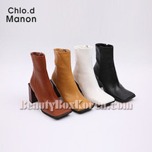 CHLO.D MANON Square Toe Chunky Heel Boots 1pair
