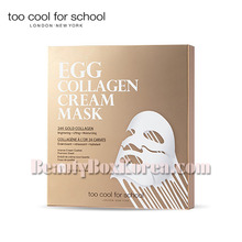 TOO COOL FOR SCHOOL Egg Collagen Cream Mask 12g*5ea,TOO COOL FOR SCHOOL