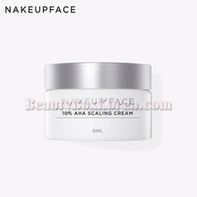 NAKEUP FACE 10% AHA Scaling Cream 30ml,Beauty Box Korea