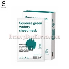 E NATURE Squeeze Green Watery Sheet Mask 25g*10ea