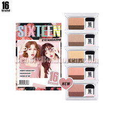 16 BRAND Eye Magazine 2.5g,Beauty Box Korea