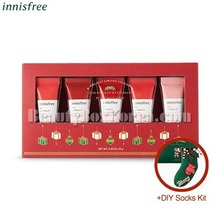 INNISFREE My Lipbalm Best Collection 5g+DIY Socks Kit[2018 Green Christmas Limited Edition]