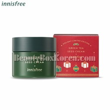 INNISFREE Green Tea Seed Cream 100ml[2018 Green Christmas Limited Edition],Beauty Box Korea