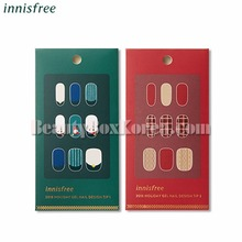 INNISFREE Gel Nail Design Tip 1ea[2018 Green Christmas Limited Edition],Beauty Box Korea