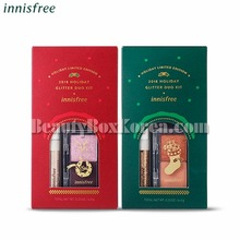 INNISFREE Glitter Duo Kit 6.4~6.5g[2018 Green Christmas Limited Edition],Beauty Box Korea