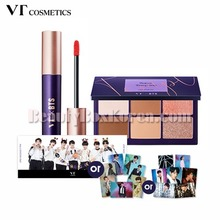 VT COSMETICS Super Tempting Eye Palette & Lip Rouge with BTS Photo Set [VTXBTS Edition],Beauty Box Korea