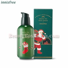 INNISFREE Green Tea Seed Serum 160ml[2018 Green Christmas Limited Edition],Beauty Box Korea