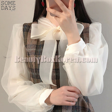 SOMEDAYS See Through Ribbon Blouse 1ea