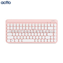 ACTTO Retro Mini Bluetooth Keyboard Pink 1ea