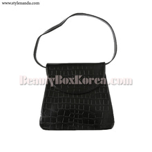 STYLENANDA Textured Front Flap Shoulder Bag 1ea