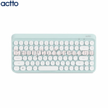 ACTTO Retro Mini Bluetooth Keyboard Mint 1ea