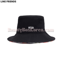 LINE FRIENDS BT21 Black Bucket Hat 1ea