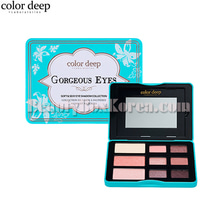 COLOR DEEP 9 Color Gorgeous Eyes Eyeshdow Palette 10.2g