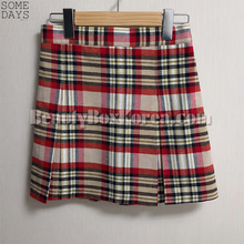 SOMEDAYS Check Mini Tennis Skirt 1ea